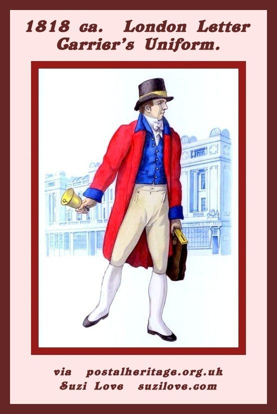 1818 Ca London Letter Carriers Uniform Postalheritageorguk
