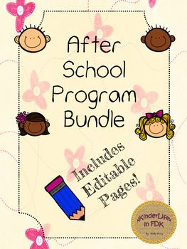 As an Early Childhood Educator, I know how hectic it is to run an After School Program! I've made up a little bundle that will hopefully make planning and organizing a little easier!Included in this package are five useful, EDITABLE pages for your before/after school group.