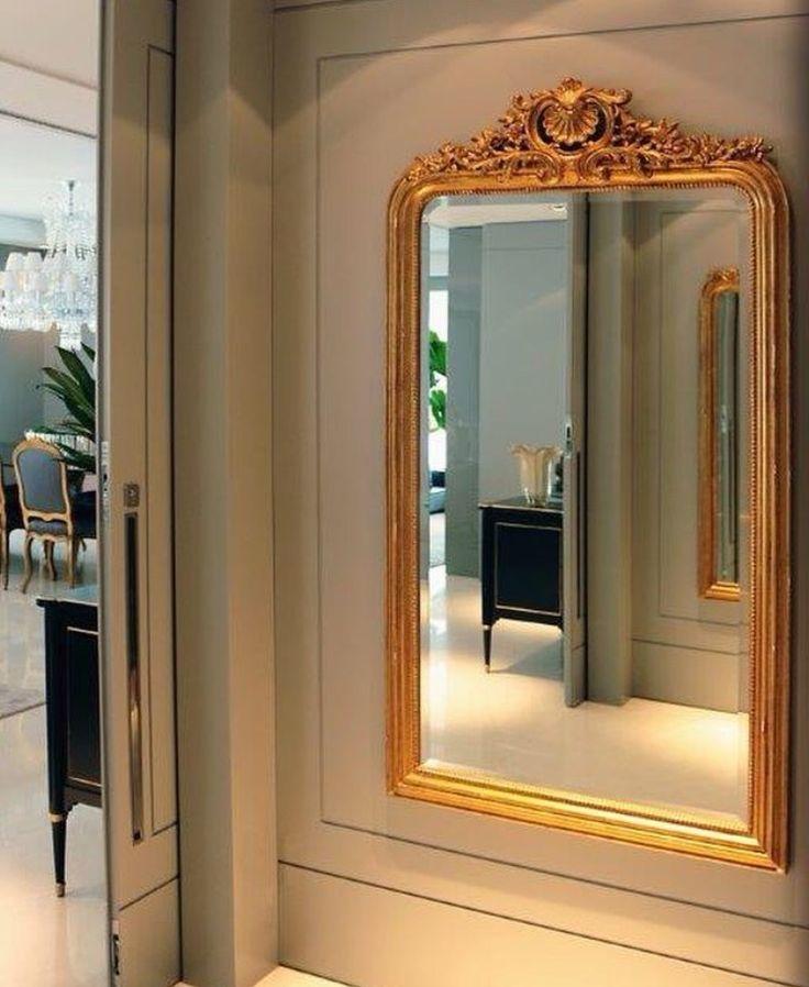 Pin By Shay On Hallway In 2019: Hall De Entrada. Porta De Correr. Espelho Com Moldura