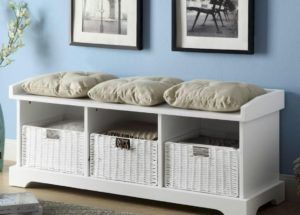 Caldwell 3 Cubby Storage Bench With Baskets