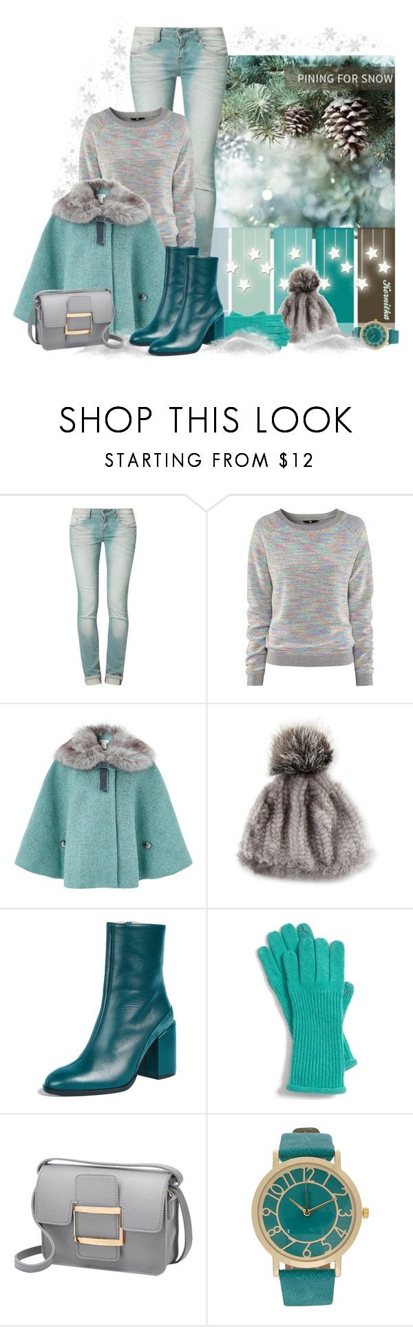 """nr 2160 / Winter Palette"" by kornitka ❤ liked on Polyvore featuring One Green Elephant, H&M, Monsoon, Adrienne Landau, Dear Frances, Nordstrom and Winter"