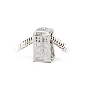 Doctor Who Silver TARDIS Charm Bead-Perfect for my charm bracelet with patented name, but it begins with Pandor#