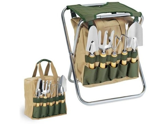 Gardener Seat and Tool Valet--This would be great for my knees!