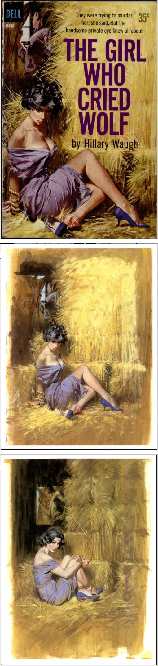 ROBERT McGINNIS - The Girl Who Cried Wold by Hillary Waugh - 1960 Dell Books D338 - items by brownslair.tumblr