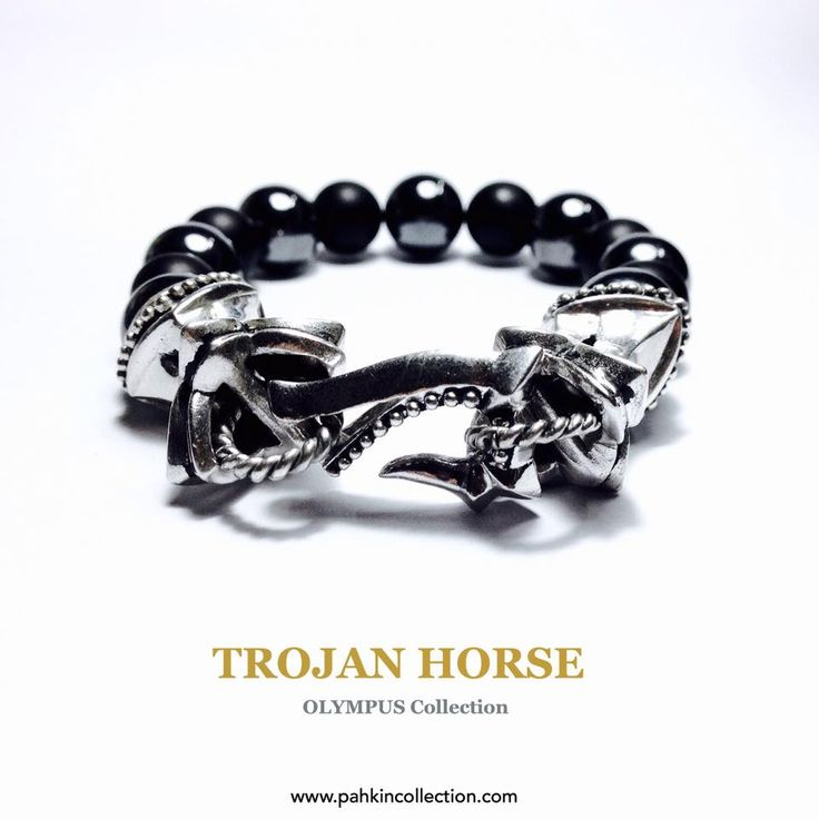 """PAHKIN:TROJAN HORSE """"OLYMPUS""""Collection 925 Sterling silver & Natural stone. Available at The Selected SiamCenter 3F,LINE: luxxpahkin,IG: PAHKIN Worldwide shipping www.pahkincollection.com #PAHKIN #OLYMPUS #Mythology #models #accessories #jewelry #man #lady #gay #casual #style #unique #metrosexual #motorcycle #bike #biker #tattoo #rock #NYC #LA #London #Tokyo #Osaka #Moscow #Munich #Bern #Melbourne #Toronto #HongKong"""
