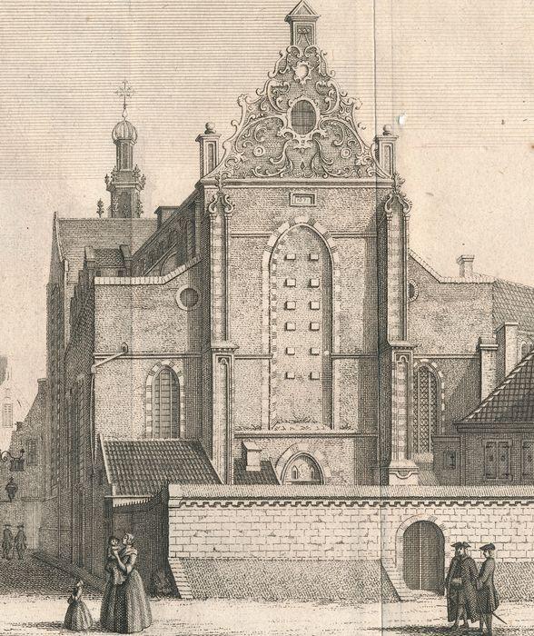 """Afmeting der gravures: ca. 15,5 x 20 cm  Conditie: zeer goed. Brede marges. Vouwen als uitgegeven. Scherpe afdruk. Gaatje in S.Katharynen Kerk (rechts van de kerk top), Iets gebruind bij de randen. Verso: blank.   Verschenen in """"Hedendaagsche Historie of Tegenwoordige staat van Utrecht , uitgegeven door Isaak Tirion te Amsterdam, ca. 1755.  (totaal 3)  Nr 898 4,5,6"""