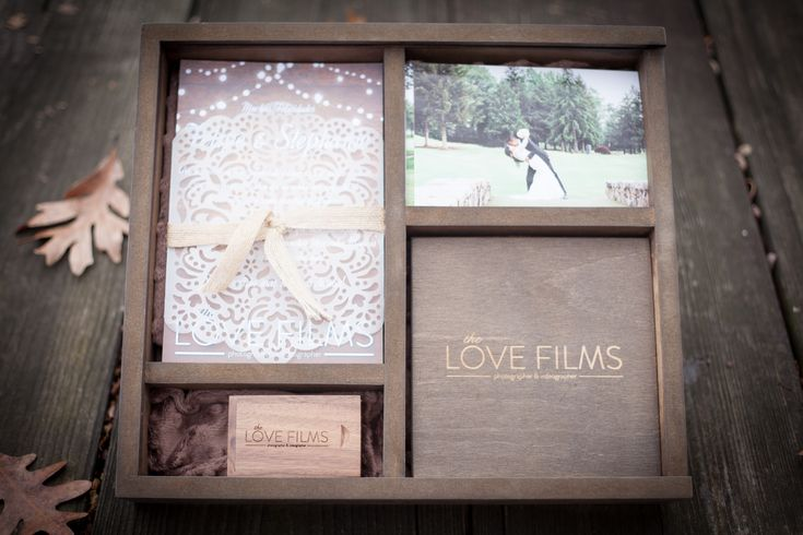 DVD WEDDING - WOOD BOX WITH USB - THELOVEFILMS