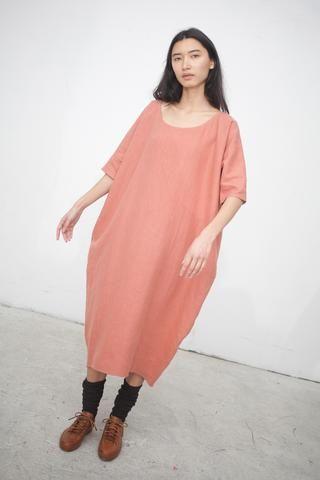 b23f7693a0 Rachel Craven Long Cocoon Dress in Terracotta