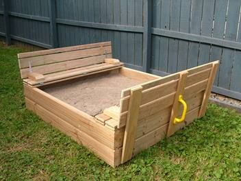 super sandpit with lid seat lay buy for xmas cutesy. Black Bedroom Furniture Sets. Home Design Ideas