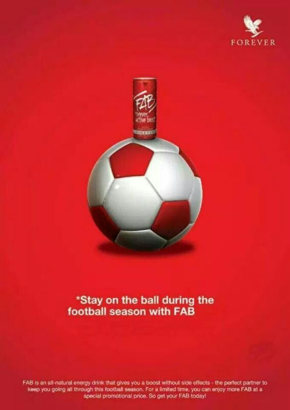 Stay on the ball during the football season with FAB Energy Drink