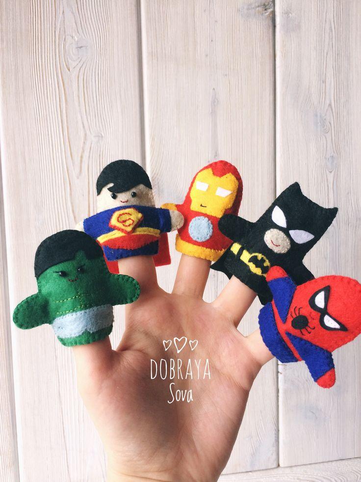 Кукольный пальчиковый театр из фетра Dc Marvel супер герои