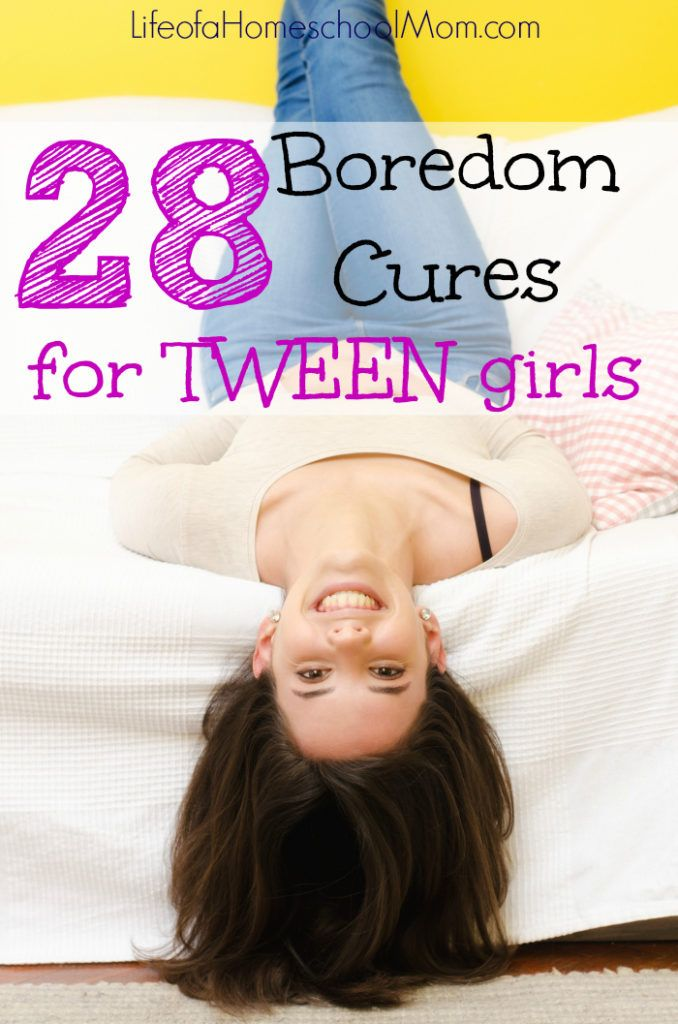 No more complaints of boredom! If you have a tween girl, you must check out this amazing list of boredom cures!