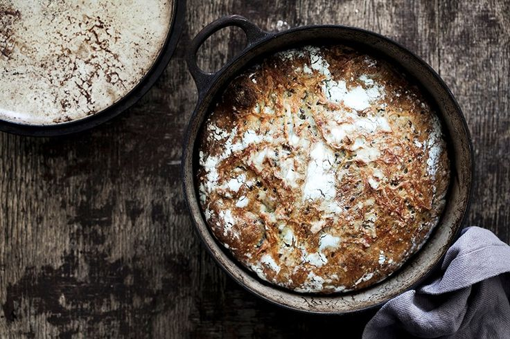 Oppskrift på grovt grytebrød med linfrø.