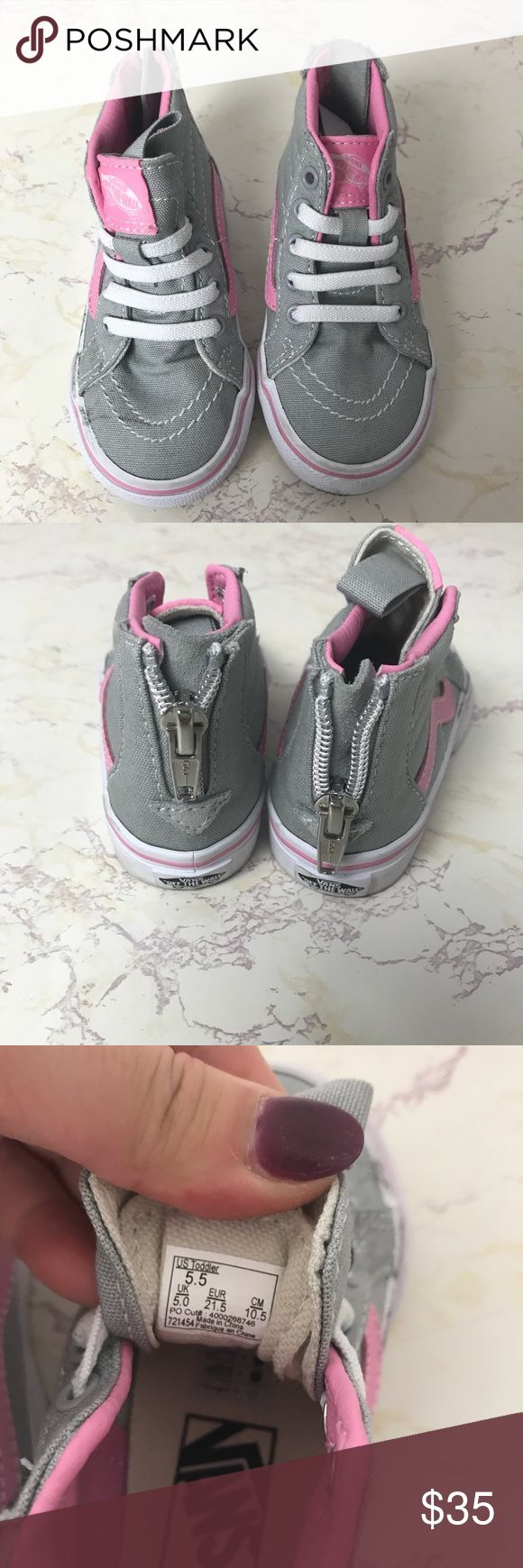 Vans of the walls high top toddler shoes size 5.5 Good condition Vans Shoes Sneakers