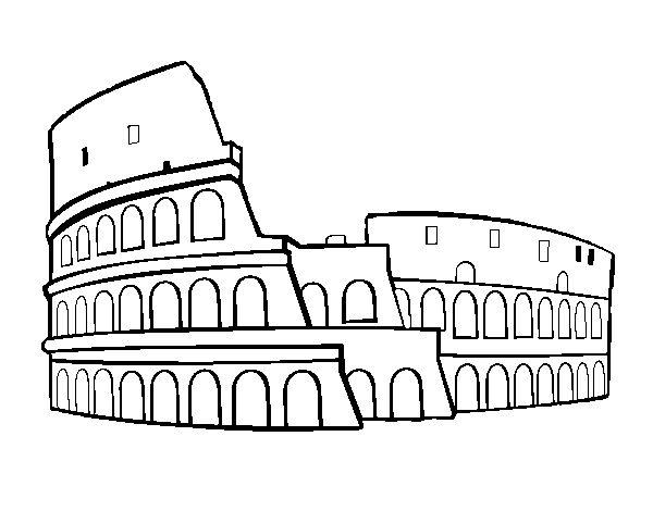 Resultado de imagen para coliseo romano dibujo