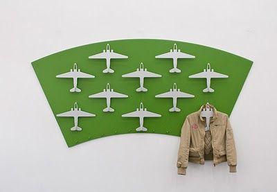 Vliegtuig Kledinghangers gemaakt van hout