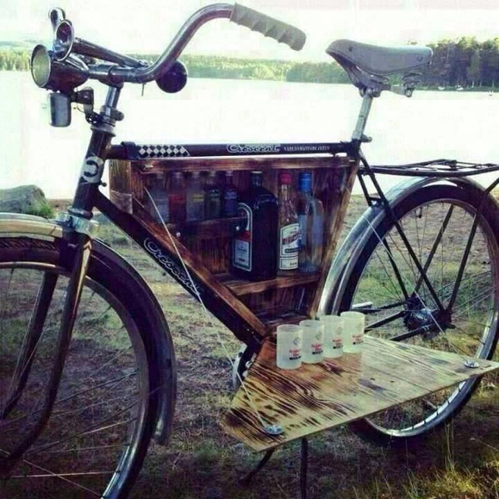 A whole bar on wheels. #bicycles