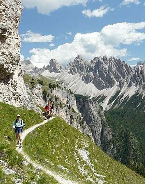 Hiking the Dolomites, Italy. Photo: Gene Goldberg