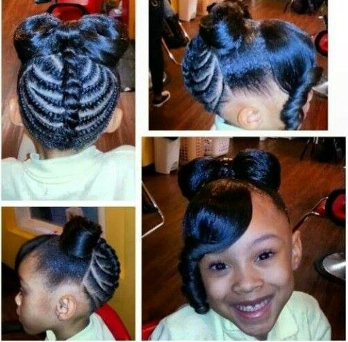 Cute kid hairstyle , thebow