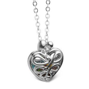 Sterling silver small locket to hold up to four birthstones - Locket including four birthstones - $67.75 #PoagWishList