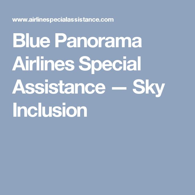 Blue Panorama Airlines Special Assistance — Sky Inclusion