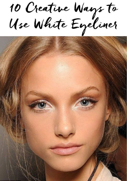 You'll be amazed by all of the different ways you can use white eyeliner!  http://blog.pampadour.com/10-creative-ways-use-white-eyeliner/  #beautytips #beautyhacks #eyeliner
