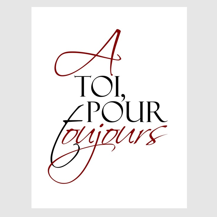 Yours always in French