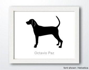 Tree walker coonhound stencil