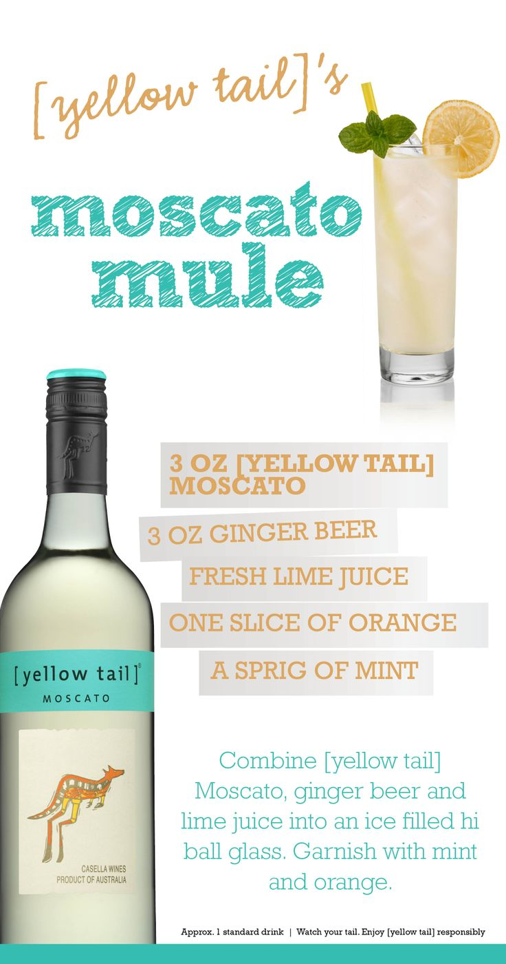 [yellow tail] Moscato Mule wine[tail] - a wine cocktail with [yellow tail] Moscato #recipe #cocktail #wine