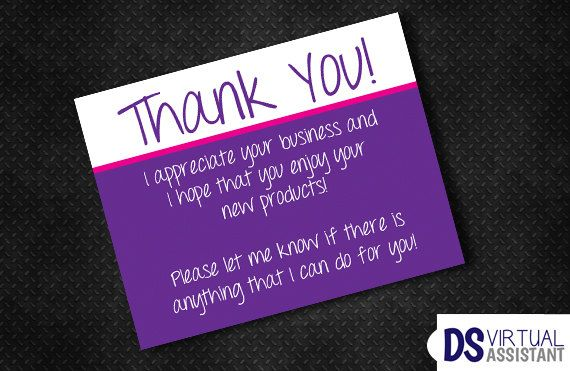 INSTANT DOWNLOAD Send this Thank You Postcard to your customers after they place an order to let them know how much you appreciate their business.  || PRODUCT || You will receive a .PDF file of your finished design. This listing is for digital files only. You will not receive any physical postcards. || ORDER || Add this product to your cart. Once your order is complete you will be redirected to instantly download your file. || PRINT || My designs are created VistaPrint Standard Postcard Size…