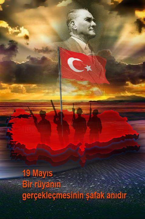 19 Mayıs Türkiye Cumhuriyetinin Şafak anıdır. Mustafa Kemal'in Türk olarak doğması ise, Türk Milletinin şeref anıdır. <3