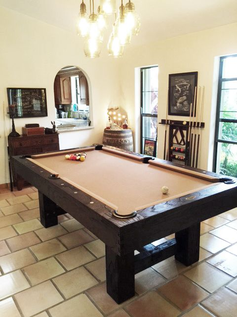 The Reno Pottery Barn Antique Walnut 7ft Pool Table Frame