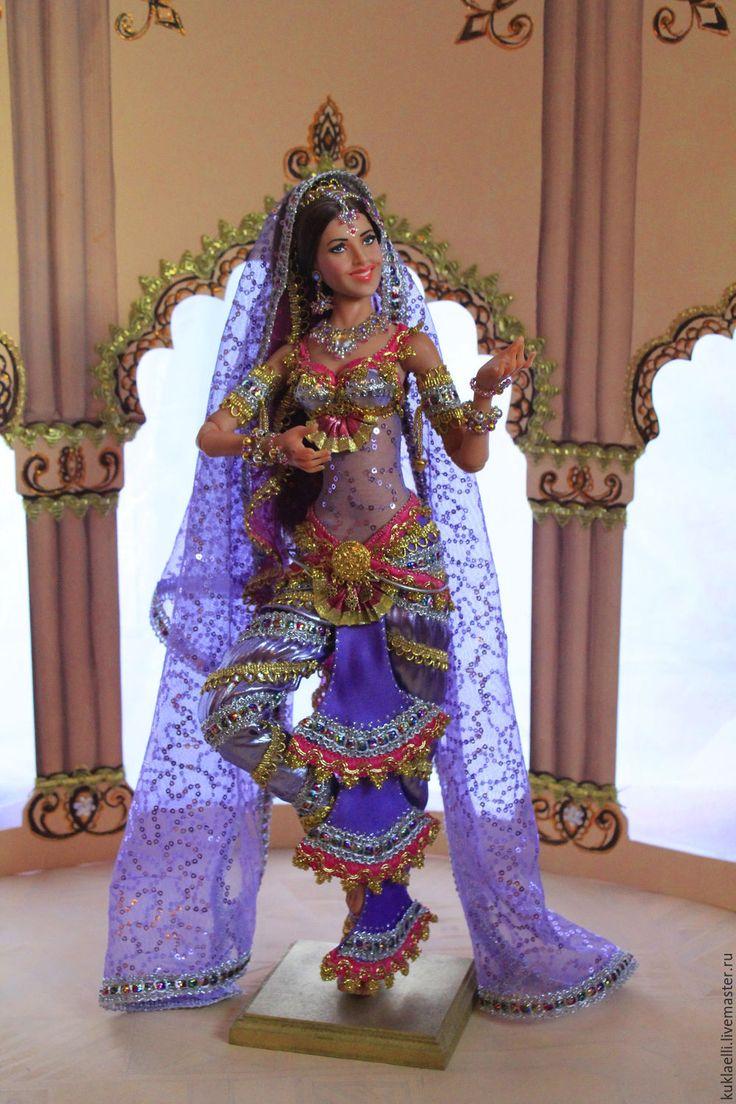 Купить Кукла Индианка - сиреневый, кукла индианка, индия, индийский стиль, индийский танец