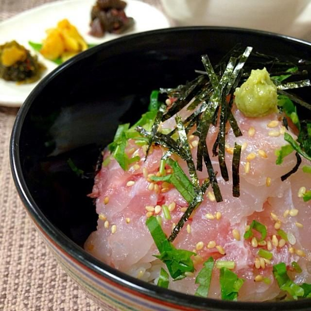 アクアパッツァを作る時に取っておいた刺身用の鯛を見ていたら、鯛茶漬けが食べたくなった - 179件のもぐもぐ - 鯛茶漬け by Demisuke