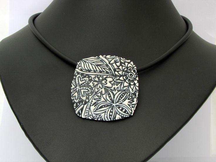 Halskette aus polymer clay handgefertigt   filigran-design und polymerdesign   Flickr