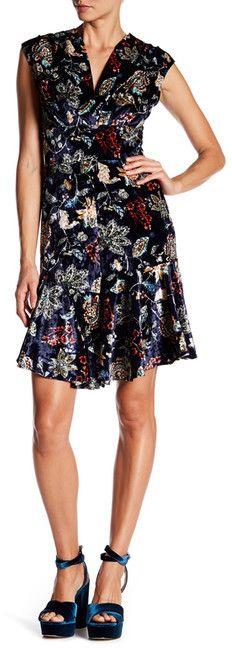Eva Franco Ariel V-Neck Print Dress