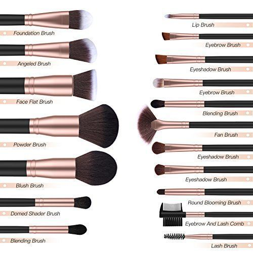 BESTOPE 18-teiliges Make-up-Pinsel-Set Premium Kabuki Brush Synthetic Foundatio – Makeup Ideen