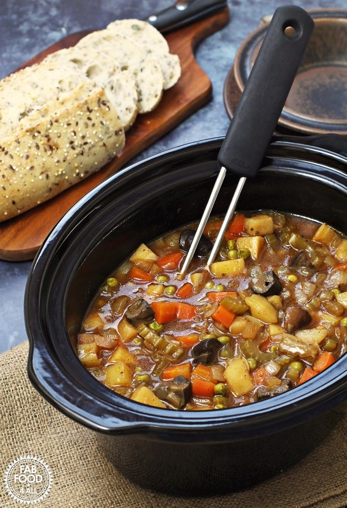 Easy Slow Cooker Vegan Stew A Hearty Tangy Stew With Root