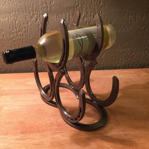 Horseshoe Wine Rack By Nomadironworks On