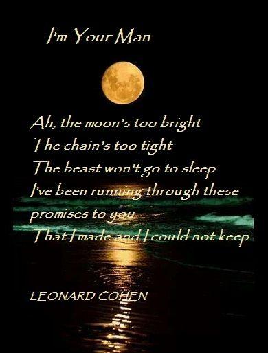 I'm Your Man  -  Leonard Cohen