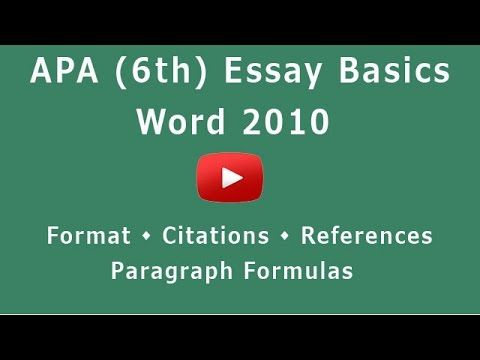 apa style 6 quick guide