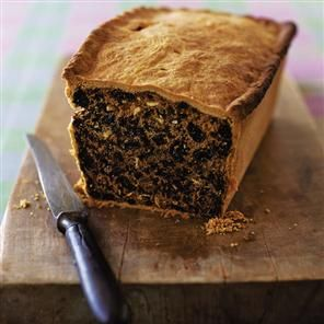 Traditional Scottish Black Bun. This looks really interesting to try. It is supposed to be delicious and I want to find out! The recipe is in grams so you will have to weigh out the ingredients or convert it, we just weigh it out the scale was surprisingly inexpensive and we just zero out the bowl and begin! Pin leads back to delicious magazine's free recipe website! Have fun!