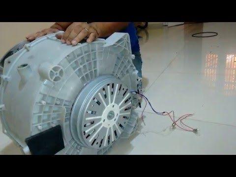 Como fazer um Gerador de energia com motor de Máquina de lavar. Parte 1 - YouTube