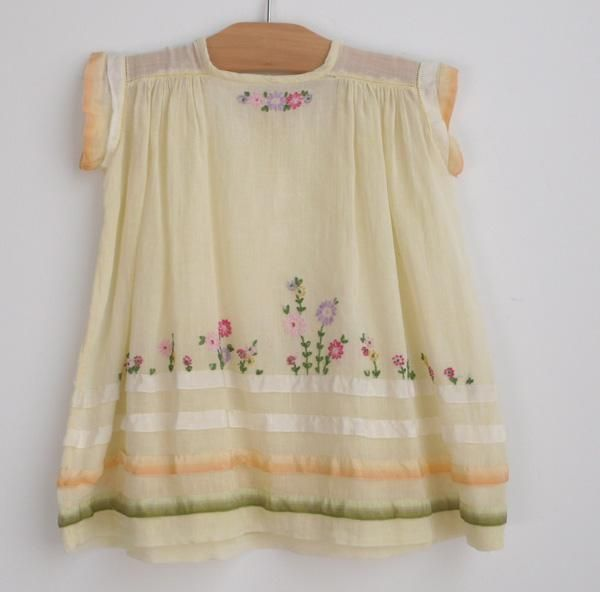 Vintage hand embroidered baby dress, circa 1930 -- #Lorelei Vintage