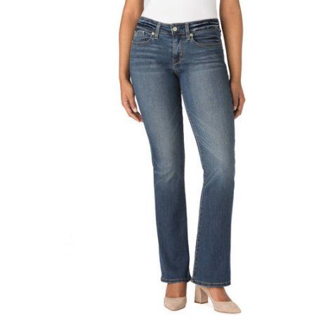 Signature by Levi Strauss & Co. Women's Modern Boot Cut Jeans, Size: 10 Long, Blue