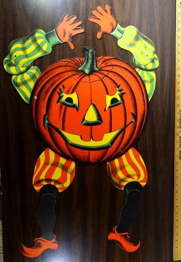 Vintage beistle halloween decoration large 36 jointed for Antique halloween decoration