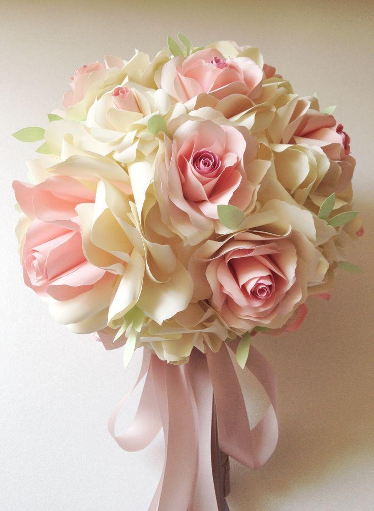 Wedding paper flower bouquet