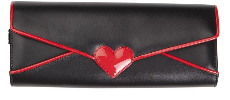 MESSAGE CLUTCH BLACK-RED