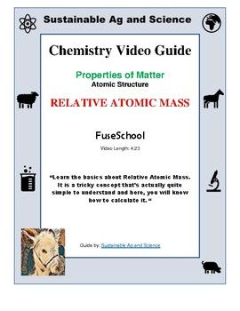 Best 25 relative atomic mass ideas on pinterest structure of chemistry relative atomic mass fuseschool video guide urtaz Gallery