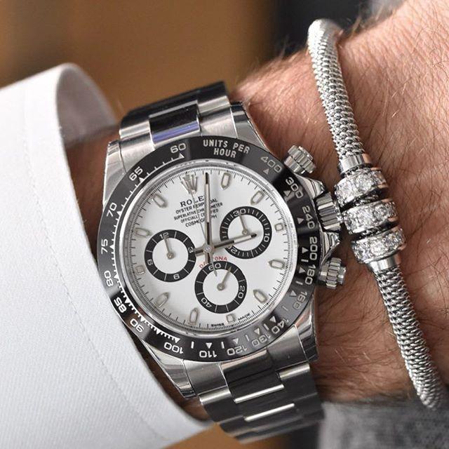 Beautiful @infinitybraceletuk to match your new Rolex Daytona | http://ift.tt/2cBdL3X shares Rolex Watches collection #Get #men #rolex #watches #fashion